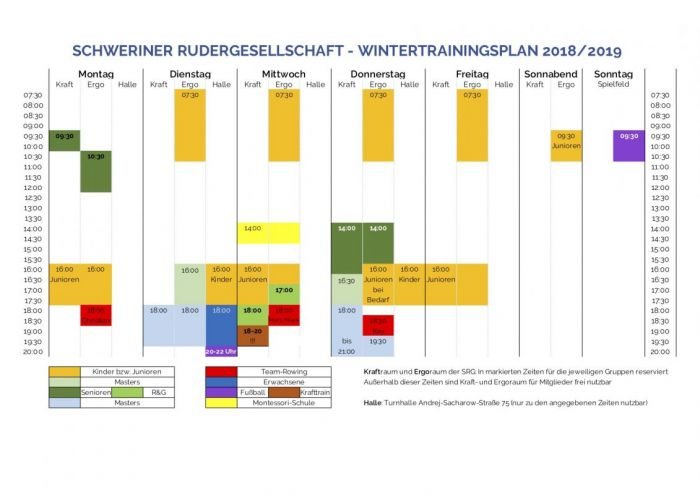 SRG Wintertrainingsplan 2018/19